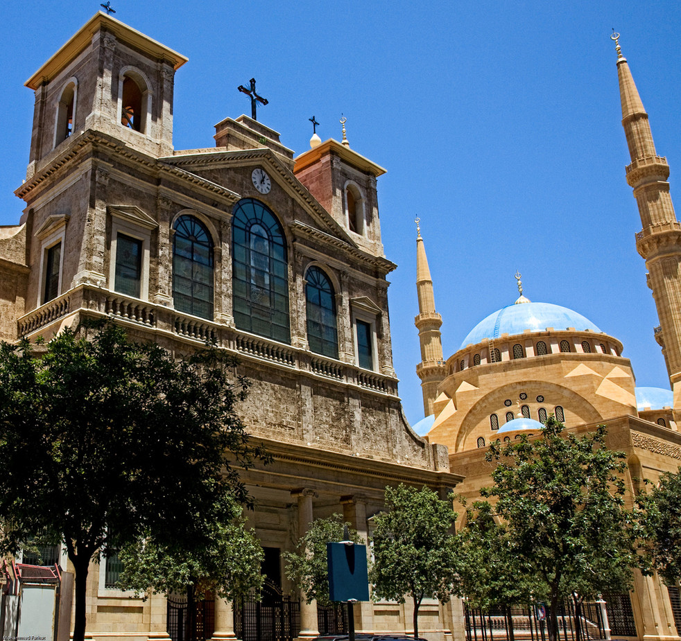 Cathédrale maronite Saint-Georges  mosquée Mohammad Amine beyrouth 22
